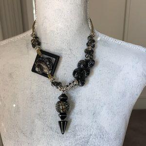 Jewelry - Artsy Asymmetrical Handblown Glass Necklace